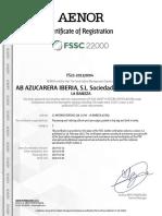 FSSC 22000 LA BAÑEZA - 06.04.2020
