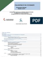 Cours de Philosophie Et de Citoyenneté - Programme d Études - Cycles 2, 3 Et 4 de l'Enseignement (Ressource 13355)