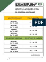 Cronograma Etas 5º II Sem. - 2016 1