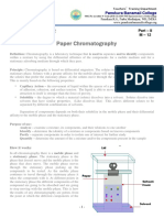 M - 12 Paper Chrmatography