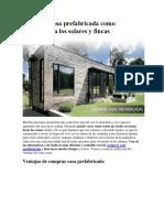 Comprar Casa Prefabricada Como Alternativa a Los Solares y Fincas