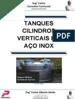 Tanques Cilindros Verticais Em Aço Inox