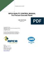 Npca Quality Control Manual - Precast