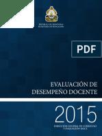Informe de Evaluacion Docente