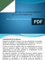 Organización de Un Departamento de Mantenimiento