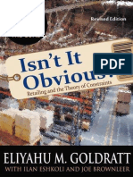Eliyahu M. Goldratt, Ilan Eshkoli, Joe Brownleer-Isn't It Obvious_ -North River Press (2009)