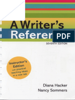 A Writer's Reference 7th Ed. (2011 MLA) Hacker & Sommers - Instructor's Edition