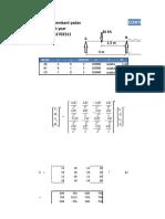 Stiffness Excel Sheet