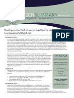 LTRC Technical Summary 558 Development of Performance-based Specifications for Louisiana Asphalt Mixtures