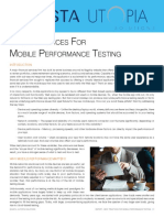 Best Practices Mobile Perf Testing