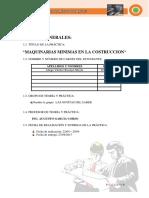 Trabajo de Maquinarias Informe