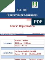 Ch 0 - Lecture 0 - Course Organization