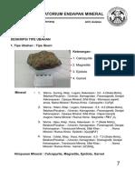 Himpunan Mineral Klorit Kuarsa Pirit Piroksen