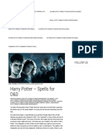 Harry Potter – Spells for D&D | Tribality