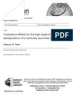 Turbulence Effect on High Angle of Attack Aerodynamics Vertically Launched Missile