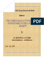 """Abusannuga_badri-The Current r & d Activities Related to Wind Energy in Libya and """"Csers"""" Efforts"""