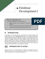 Topic 5 Database Development