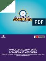 Manual de Acceso y Envio de Ficha de Monitoreo