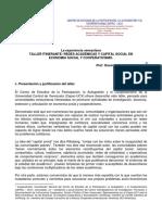 REDES ACADÉMICAS Y CAPITAL SOCIAL EN ECONOMIA SOCIAL Y COOPERATIVISMO