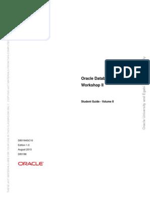 Oracle Database 12C SQL WORKSHOP 2 - Student Guide Volume 2 pdf