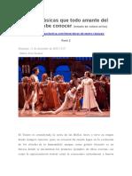 Obras Clásicas Que Todo Amante Del Teatro Debe Conocer