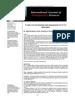 S - Cranio-cervical Junction and Management of C1-C2 Dislocation