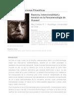 Revista Observaciones Filosóficas - Esencia, Intencionalidad y Tensión en La Fenomenología de Husserl