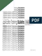 Aplicator Training Bulletin