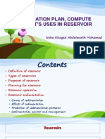Reservoirs Operation and Sedimentation