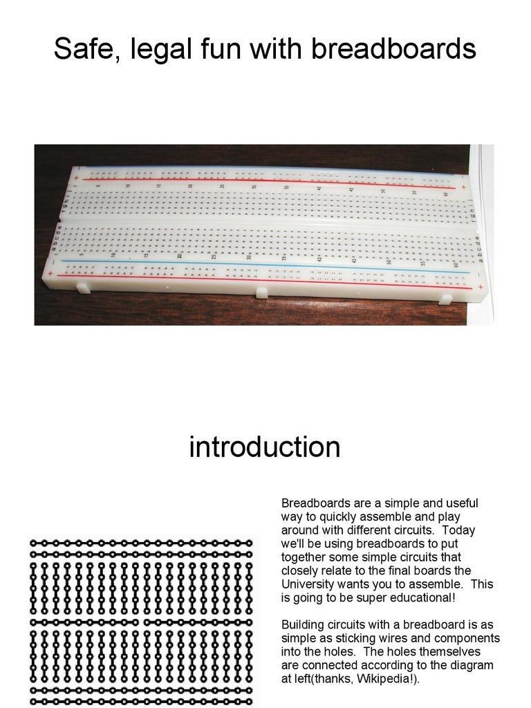 Breadboard Tutorial C Programming Language Electronic Circuits Building A Circuit On
