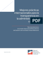 International Best Practices Contract Management Spanish