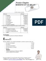 Bilan 13 Exercice de comptabilité génétale