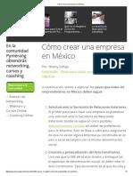 Cómo Crear Una Empresa en MéxicoPDF2