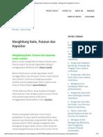 Menghitung Ratio, Putaran Dan Kapasitas - Berbagi Ilmu Pengetahuan Umum