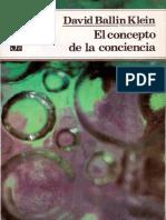 Klein, David Ballin (1989). El concepto de la conciencia.  Fondo de Cultura Económica