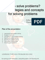 how to solve problems  -the strategies and concepts for solving problems