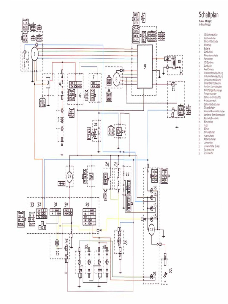 Yamaha Dt 125 R Wiring Diagram Electrical Diagrams Breeze Tdr 93 1981