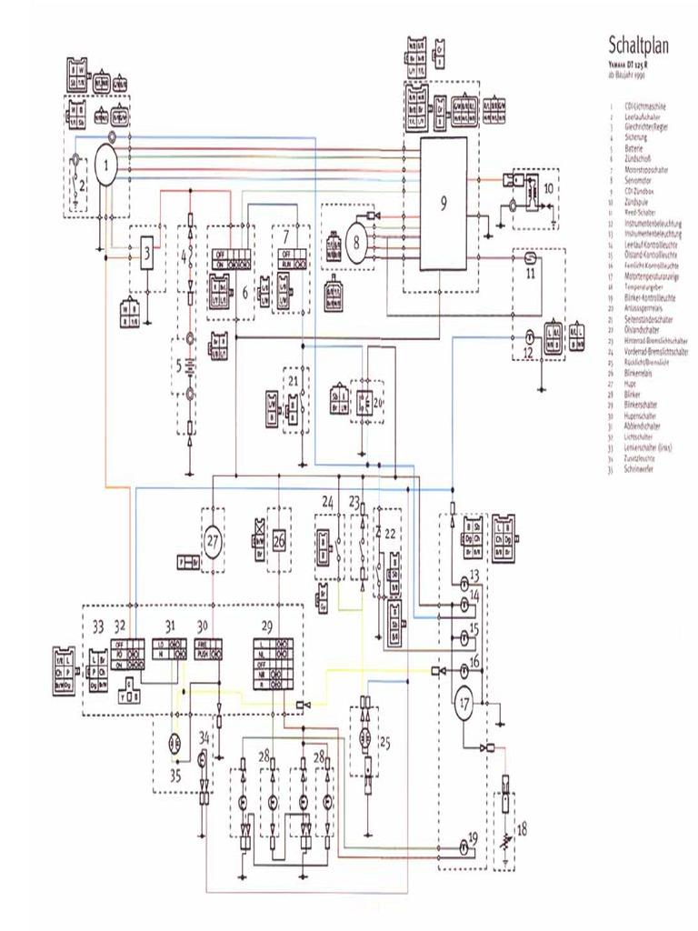 Yamaha Dt 125 R & Tdr 125 '93 Wiring Diagram 1981 Yamaha DT 125 Yamaha Dt  125 R Wiring Diagram