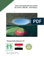 كتيب انشاء ساحات كرة قدم-العشب الطبيعي