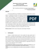 Artigo Sociologia
