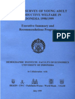 Baseline Survey of Young Adult Reproductive Welfare in Indonesia 1998 1999