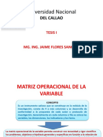 Matriz Operacional de La Variable
