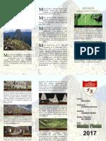 75466226 Triptico Machu Picchu
