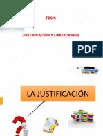 LA JUSTIFICACIÓN Y LIMITACIONES