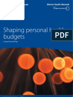 Shaping Personal Health Budgets a View From the Top