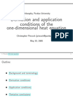 One Dimensional Flow Derivations