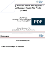 Revolutionizing Precision Health with Big Data - The Individual Exposure Health Risk Profile (IEHRP)