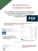 Guida Al Processo Di Immatricolazione Su Esse3 2017