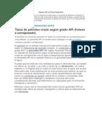 Grados API y El Peso Específico