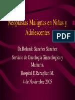 NEOPLASIAS MALIGNAS EN NIÑAS Y ADOLESCENTES
